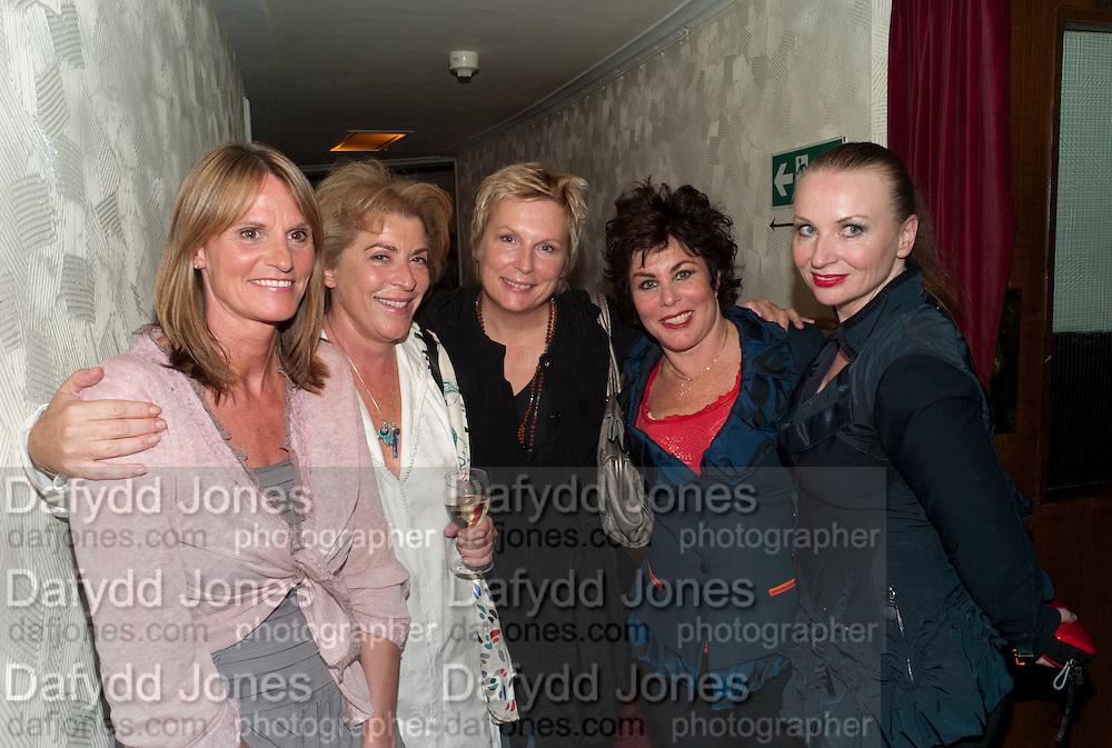 GWYNETH STRONG; SUZANNE BERTISH;  JENNIFER SAUNDERS; RUBY WAX,; JUDITH OWEN; Press night for Ruby Wax- Losing it. Duchess theatre. London. 1 September 2011. <br /> <br />  , -DO NOT ARCHIVE-© Copyright Photograph by Dafydd Jones. 248 Clapham Rd. London SW9 0PZ. Tel 0207 820 0771. www.dafjones.com.