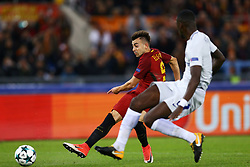 October 31, 2017 - Rome, Italy - Stephan El Shaarawy in action  during the UEFA Champions League football match AS Roma vs Chelsea on October 31, 2017 at the Olympic Stadium in Rome. (Credit Image: © Matteo Ciambelli/NurPhoto via ZUMA Press)