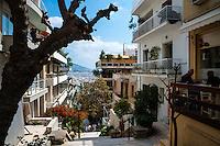 Athens, Greece. Street below Mount Lycabettus.