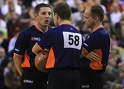 Referee´s at basketball match of 3rd Round of Euroleague between KK Union Olimpija (SLO) and Lottomatica Roma (ITA), in Arena Tivoli, Ljubljana, Slovenia, on November 6, 2008. Lottomatica  won the match 78:67.