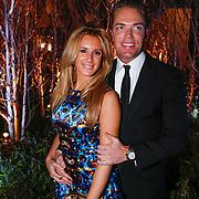 NLD/Amsterdam/20121206 - VIP night Masters of LXRY, Chantal Bles en partner Robert Doornbos