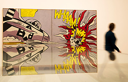 Tate Modern, Press Preview for 'Lichtenstein: A Retrospective'. A comprehensive exhibition of 125 paintings and sculptures from Roy Lichtenstein which opens to the public on Feb 21st, London, UK, 18 February, 2013. Photo by: i-Images