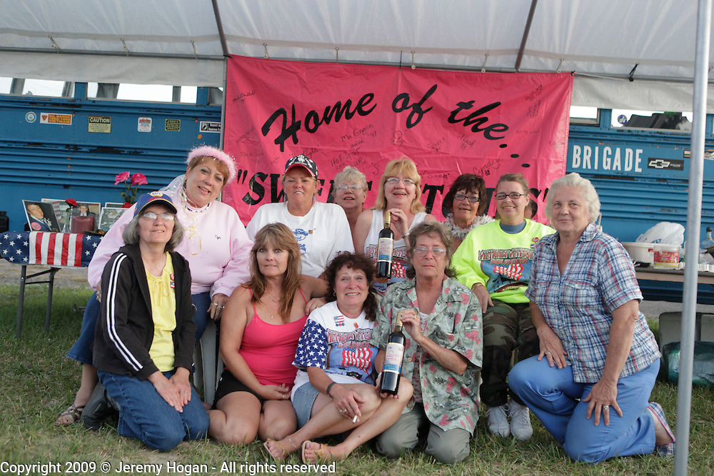 """The """"Sweet Bitches"""" a group of wives and significant others of Vietnam Veterans gather. Vietnam Veterans gather in Kokomo, Indiana for the 2009 reunion."""