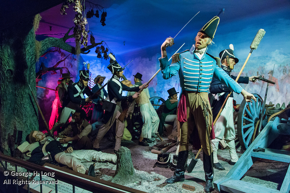 Gen. Andrew Jackson and the Battle of New Orleans depicted at the Musee Conti Wax Museum