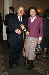 LORD & LADY  OAKSEY at The Sir Peter O'Sullevan Charitable Trust Lunch at The Savoy, London on 23rd November 2005.<br /><br />NON EXCLUSIVE - WORLD RIGHTS