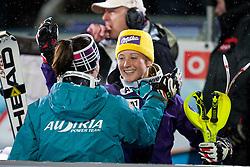 20.12.2011, Hermann Maier Piste, Flachau, AUT, FIS Weltcup Ski Alpin, Damen, Slalom Anna Fenninger und Michaela Kirchgasser (AUT) nach dem 2. Durchgang // Anna Fenninger and Michaela Kirchgasser of Austria after 2nd run of Slalom at FIS Ski Alpine Worldcup at Hermann Maier Pist in Flachau, Austria on 2011/12/20. EXPA Pictures © 2011, PhotoCredit: EXPA/ Johann Groder