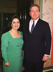 CROWN PRINCE ALEXANDER & CROWN PRINCESS KATHERINE OF YUGOSLAVIA, at a party in London on 8th July 1999.MUD 39