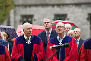 08/07/2018  repro  free:  Cllrs Noel Larkin  and Billy Cameron with Sean Kyne TD (Centre) at the National Day of Commemoration Ceremony at NUI Galway in honour of all those Irishmen and Irish Women who served in pas wars or on service with the UN.Photo:Andrew Downes, XPOSURE