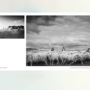 PATAGONIA - IMAGES COLLECTION. The South of the word when the world finished (page 28-29). Best collection from the first book Patagonia, published in October 2014. Published by apspressimage. The author presents a series of images using the digital and analogue camera to tell the story of the daily life in Black and White of southern Patagonia.