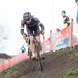 11-01-2020: Wielrennen: NK Veldrijden: Rucphen <br />Meer dan een derde plek op het NK Masters zater er voor Maarten Nijland (Rossum) niet in