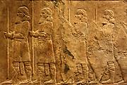Assyrian wall, circa 645-635 BC. From the North Palace in Nineveh.