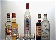 Nederland, Brunssum, 26-3-2012Een nis met daarin flessen poolse wodka.Foto: Flip Franssen/Hollandse Hoogte