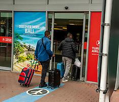 All quiet at airport at peak summer time; Edinburgh, 29 July 2020