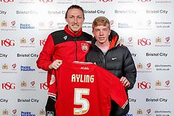 Luke Ayling of Bristol City poses during the Player Sponsors' Evening in the Sports Bar & Grill at Ashton Gate - Mandatory byline: Rogan Thomson/JMP - 11/04/2016 - FOOTBALL - Ashton Gate Stadium - Bristol, England - Bristol City Player Sponsors' Evening.