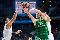 Real Madrid's player Gustavo Ayon and Panathinaikos's player Nick Calathes during match of Turkish Airlines Euroleague at Barclaycard Center in Madrid. November 16, Spain. 2016. (ALTERPHOTOS/BorjaB.Hojas)