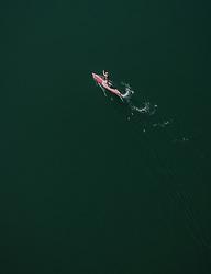 THEMENBILD - ein Mann auf einem Stand Up Paddle Board am Zeller See, aufgenommen am 20. April 2019 in Zell am See, Oesterreich // a man on a stand up paddle board at the Lake Zell in Zell am See, Austria on 2019/04/20. EXPA Pictures © 2019, PhotoCredit: EXPA/ JFK