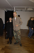Maureen Paley and Wolfgang Tillmans. Launch of Home and Dry,  Pet Shop Boys video made by Wolfgang Tillmans. Inside Space. Selfridges. 14 January 2001. © Copyright Photograph by Dafydd Jones 66 Stockwell Park Rd. London SW9 0DA Tel 020 7733 0108 www.dafjones.com