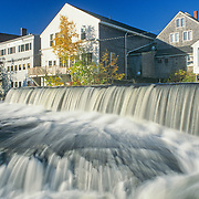 Falls on the Megunticook River in Camden, Maine behing the shops on Main Street.