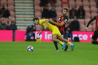 Football - 2020 / 2021 Sky Bet Championship - AFC Bournemouth vs. Wycombe Wanderers - The Vitality Stadium<br /> <br /> Bournemouth's Steve Cook fouls Scott Kashket of Wycombe during the Championship match at the Vitality Stadium (Dean Court) Bournemouth <br /> <br /> COLORSPORT/SHAUN BOGGUST