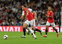 Football - 2018 / 2019 UEFA Nations League A - Group Four: England vs. Spain<br /> <br /> Saul Niguez (Spain) breaks away from Harry Kane (England) as Spain push forward at Wembley Stadium.<br /> <br /> COLORSPORT/DANIEL BEARHAM