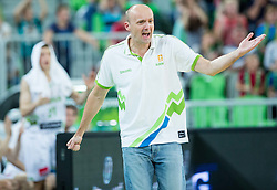 Jure Zdovc, head coach of Slovenia during friendly basketball match between National Teams of Slovenia and Brasil at Day 2 of Telemach Tournament on August 22, 2014 in Arena Stozice, Ljubljana, Slovenia. Photo by Vid Ponikvar / Sportida