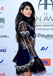 Jasmin Walia attending the 8th Annual Asian Awards held at the Hilton Hotel, Park Lane, London.