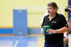 Bojan Voglar, head coach of RK Zagorje during handball match between ZRK Mlinotest Ajdovscina and RK Zagorje in 17th Round of Slovenian Women Handball League 2015/16 on April 6, 2016 in Sports hall Police Ajdovscina, Ajdovscina, Slovenia. Photo By Urban Urbanc / Sportida