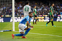 October 29, 2017 - Napoli, Napoli, Italy - Naples - Italy 29/10/2017. LORENZO INSIGNE of S.S.C. NAPOLI during Serie A  match between S.S.C. NAPOLI and Sassuolo  at Stadio San Paolo of Naples. (Credit Image: © Emanuele Sessa/Pacific Press via ZUMA Wire)