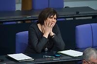 22 FEB 2013, BERLIN/GERMANY:<br /> Ilse Aigner, CSU, Verbraucherschutzministerin, waehrend der Bundestagsdebatte zum Verbraucherschutz, Plenum, Deutscher Bundestag<br /> IMAGE: 20130222-01-018
