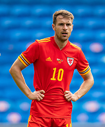 CARDIFF, WALES - Saturday, June 5, 2021: Wales' Aaron Ramsey during an International Friendly between Wales and Albania at the Cardiff City Stadium in their game before the UEFA Euro 2020 tournament. (Pic by David Rawcliffe/Propaganda)