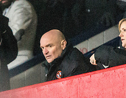 Dundee United's chairman Stevie Thomson in the stand at the end. <br /> Dundee 2 v 1  Dundee United, SPFL Ladbrokes Premiership game played 2/1/2016 at Dens Park.