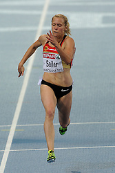 29.07.2010, Olympic Stadium, Barcelona, ESP, European Athletics Championships Barcelona 2010, im Bild Verena Sailer GER wins the 100 meter <br />  GER Foto: nph /  Ronald Hoogendoorn