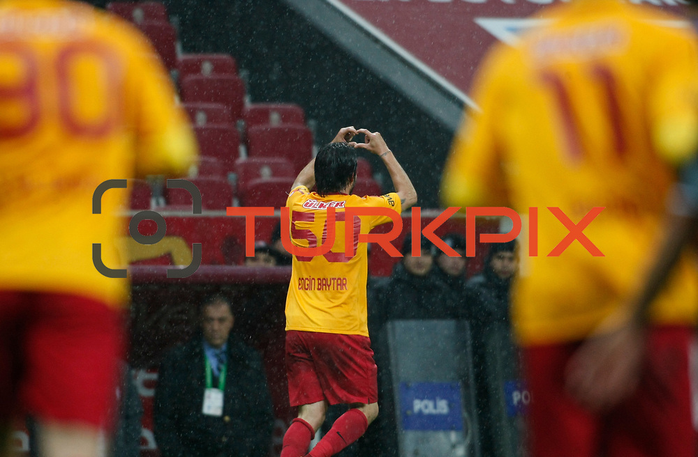 Galatasaray's Engin Baytar celebrate his goal during their Turkey Cup matchday 3 soccer match Galatasaray between AdanaDemirspor at the Turk Telekom Arena at Aslantepe in Istanbul Turkey on Tuesday 10 January 2012. Photo by TURKPIX