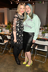 Left to right, MARY KATE TREVASKIS and LAUREN LAVERNE at the Smashbox Influencer Dinner hosted by Lauren Laverne held at Carousel, 71 Blandford Street, London on 21st January 2016.