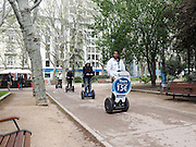 Segway tour at Plaza de España, Madrid, Spain