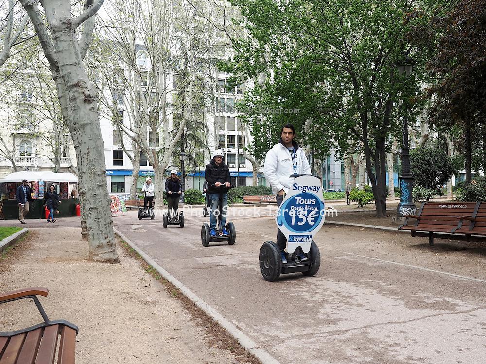 Segway tour at Plaza de España, Madrid, Spain