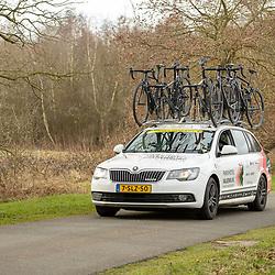 12-03-2021: Wielrennen: Healthy Ageing Tour: Wijster <br />Teamcar Parkhotel Valkenburg