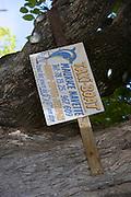 Water taxi sign, Rangioa, Tuamotus, French Polynesia<br />