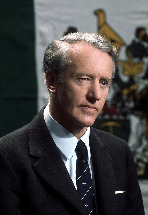Rhodesian Prime Minister Ian Smith seen in Salisbury, Rhodesia in 1976. Photographed by Terry Fincher