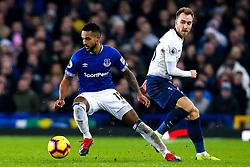 Theo Walcott of Everton goes past Christian Eriksen of Tottenham Hotspur - Mandatory by-line: Robbie Stephenson/JMP - 23/12/2018 - FOOTBALL - Goodison Park - Liverpool, England - Everton v Tottenham Hotspur - Premier League