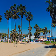 Bike trail In Venice Beach, Los Angeles, California
