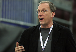 Slovenian coach Srdjan Djordjevic at the 1st day of  European Athletics Indoor Championships Torino 2009 (6th - 8th March), at Oval Lingotto Stadium,  Torino, Italy, on March 6, 2009. (Photo by Vid Ponikvar / Sportida)