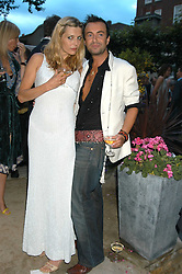 JEMIMA FRENCH and JULIEN MACDONALD  at the Tatler Summer Party in association with Moschino at Home House, 20 Portman Square, London W1 on 29th June 2005.<br />