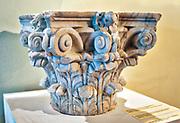 Głowica kolumny ocalała z niemieckiego zniszczenia