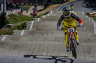 #53 (PRIES Nadja) GER during round 4 of the 2017 UCI BMX  Supercross World Cup in Zolder, Belgium.
