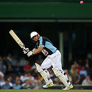 Matt Burke in action during Australia's Big Bash Cricket match to raise money for the Victorian Bushfire Appeal at the Sydney Cricket Ground, Sydney, Australia on February 22, 2009. The match was attended by over 20,000 spectators.  Photo Tim Clayton