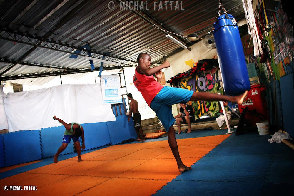 Martial Art club project for children and youth at Santa Marta favela, Rio de Janeiro.