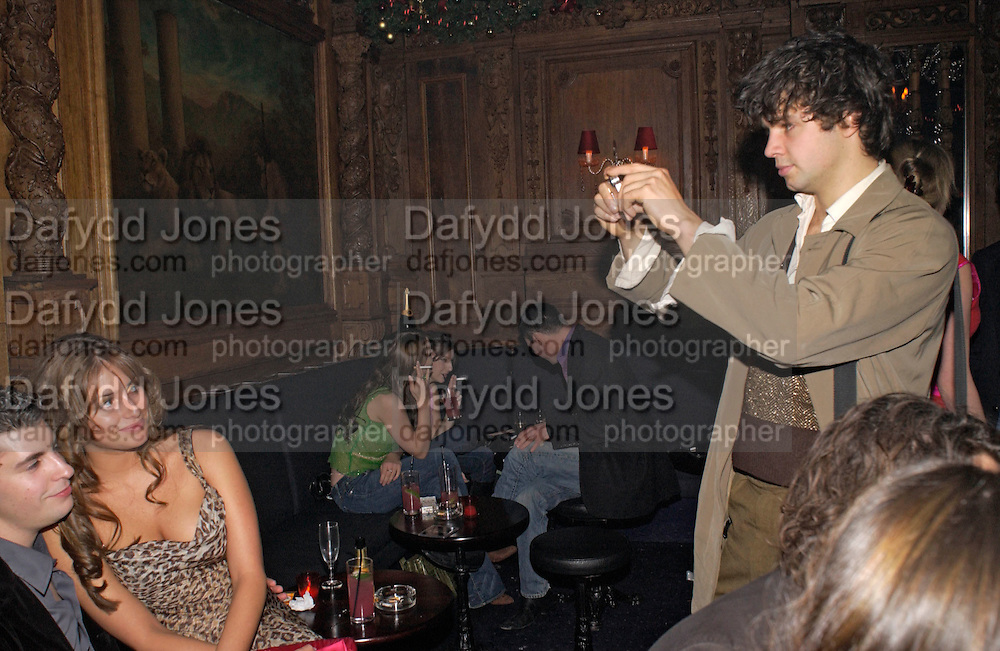 Saskia Boxford and Conrad Shawcross, Tatler magazine Little Black Book party, Tramp. Jermyn St. 10 November 2004. ONE TIME USE ONLY - DO NOT ARCHIVE  © Copyright Photograph by Dafydd Jones 66 Stockwell Park Rd. London SW9 0DA Tel 020 7733 0108 www.dafjones.com