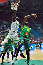 September 15, 2017 - Tunis, Tunisia - Ochefu Daniel(32)of Nigeria and Ndoye Youssoufa(15) of Senegal during the semi-final of FIBA AfroBasket 2017....Afrobasket 2017: Semifinal: Senegal eliminated by Nigeria who find Tunisia in the final  (Credit Image: RealTime Images)