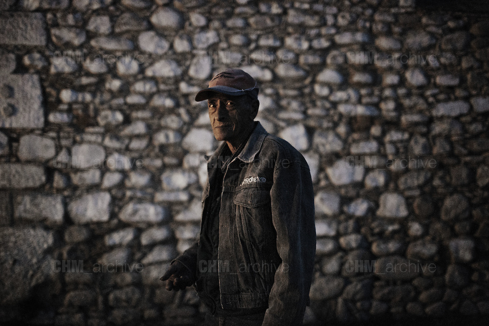 Antonio, custode e tutto fare della Taverna del Ponte, Bovino 28 Maggio 2014.  Christian Mantuano / OneShot